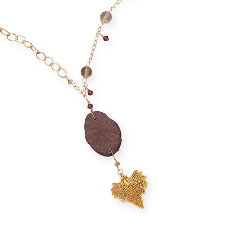 "18"" 14/20 Gold Filled Necklace with Gold Dipped Leaf Drop  Item #: - Jo and Joanne"