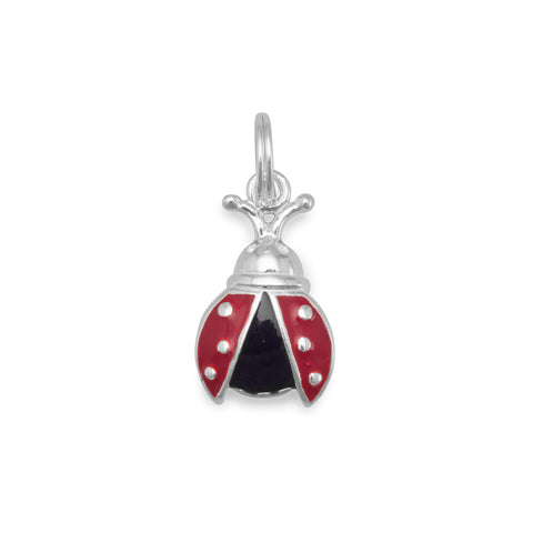 Red and Black Enamel Ladybug Charm - Jo and Joanne