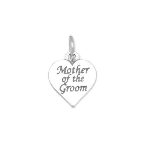 Oxidized Mother of the Groom Charm - Jo and Joanne