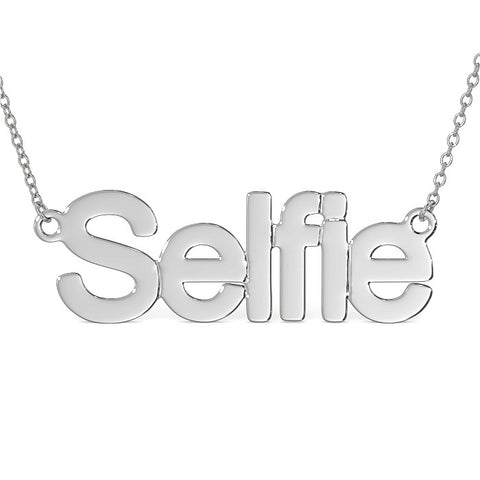 SELFIE NECKLACE IN STERLING SILVER