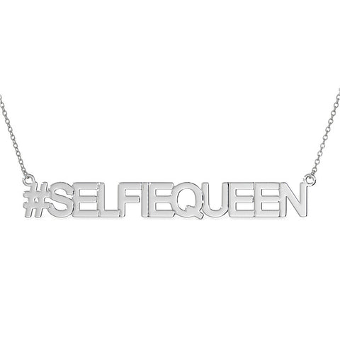 SELFIEQUEEN NECKLACE IN STERLING SILVER