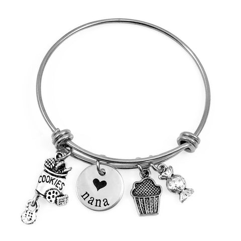 Sweet Stuff & Name Bangle {Stainless Steel}