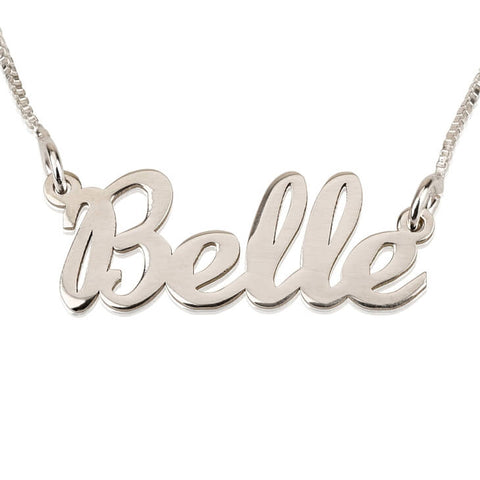 Sterling Silver Handwriting Name Necklace