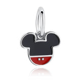 Minnie & Micky Mouse Sterling Silvcer Charm Beads Fit Pandora Bracelet