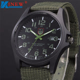 XINEW mens army watches Date Stainless Steel Military Sports Analog Quartz Men watch