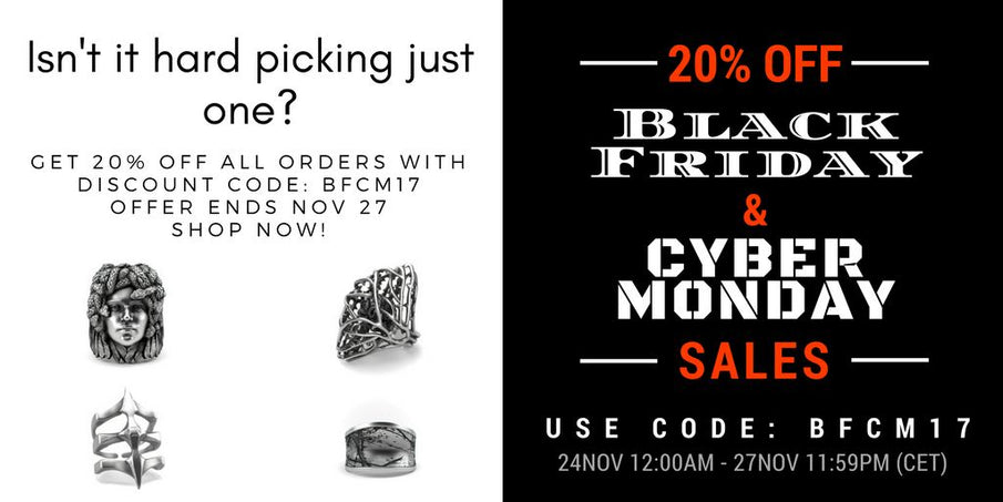 20% OFF Black Friday & Cyber Monday Sales