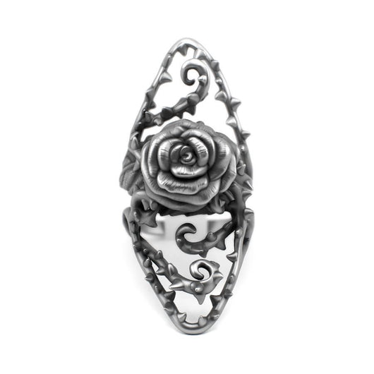 Dangerous - Silver Rose Ring - Sterling silver Ring - Silver jewelry design - PJ3DArtist's Shop