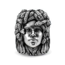 Medusa - Detailed Sterling Silver Ring - Sterling silver Ring - Silver jewelry design - PJ3DArtist's Shop