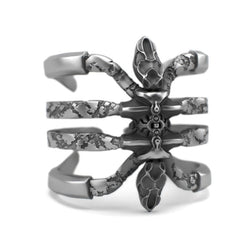 Recluse - Detailed Sterling Silver Ring - Sterling silver Ring - Silver jewelry design - PJ3DArtist's Shop
