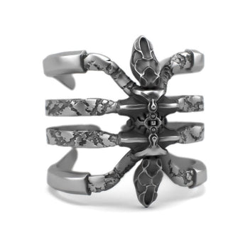 Sterling silver jewelry Ring design - Recluse - Detailed Sterling Silver Ring - PJ3DArtist's Shop