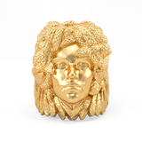 Gold Plated Ring - Medusa