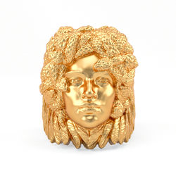 Bronze Ring - Medusa