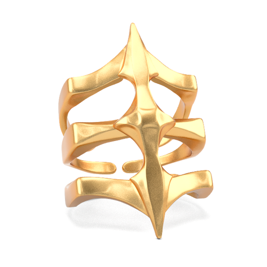 Bronze Ring - Two Spikes