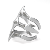 Sterling Silver Ring - Two Spikes