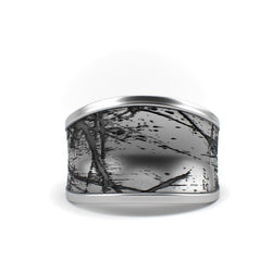 Sterling silver jewelry Ring design - Scratched - Textured Sterling Silver Ring - PJ3DArtist's Shop