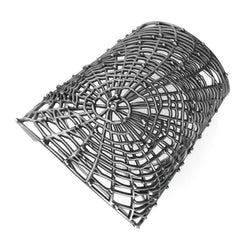 Spider's web - Sterling Silver Cuff Bracelet - Sterling silver Bracelet - Silver jewelry design - PJ3DArtist's Shop