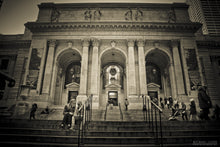 """NEW YORK PUBLIC LIBRARY"" archival photo print from Michael Cuffe - OPEN EDITION - 8.5"" x 11"""