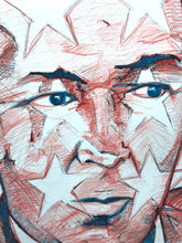 "Original Large Prismacolor ""Portrait of Artist Jasper Johns""  on BFK Rives Cotton Archival Paper"