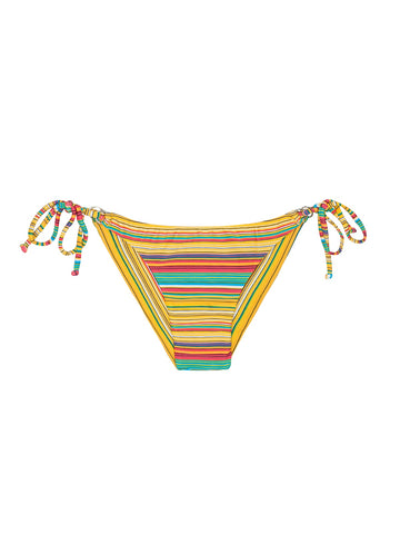 Rio de Sol Bikini CANARINHO CHEEKY Printed Yellow Striped BRAZILIAN BOTTOM