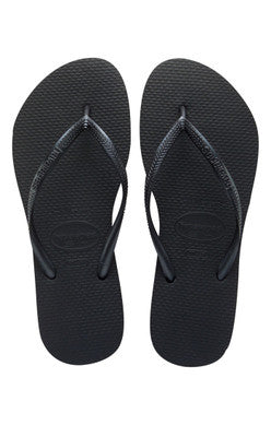 Havaianas SLIM Women's Flip Flop Sandals BLACK
