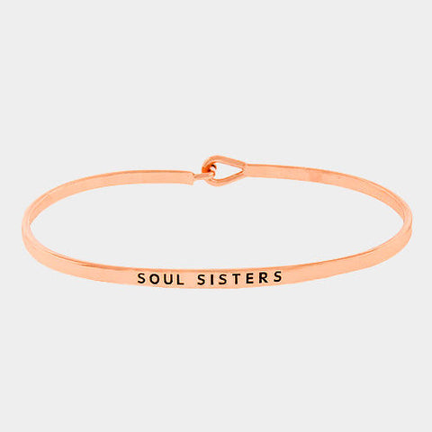 Soul Sisters Bracelet Thin Metal Friends ROSE Personalize Friendship Best Love