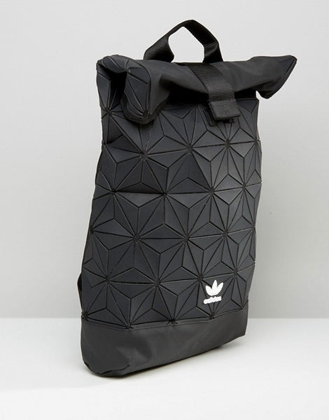 Adidas 3D Roll Top Backpack Black - Pimp Kicks