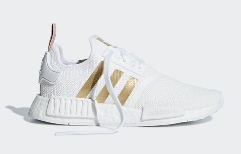 Adidas NMD Cloud White Gold Stripes Women's