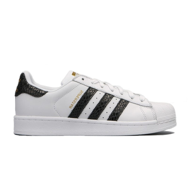 Adidas Superstar White Black Snake Women's