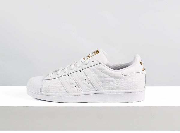 Adidas Superstar White Gold Croc Men's - Pimp Kicks