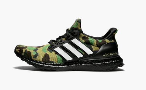 Adidas Ultra Boost X BAPE  Green Camo Men's - Pimp Kicks