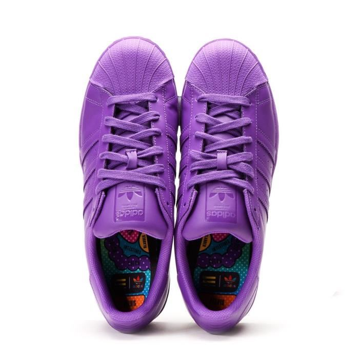 low priced 91148 ab797 Adidas X Pharrell Williams Superstar Supercolor Pack Ray Purple Men's