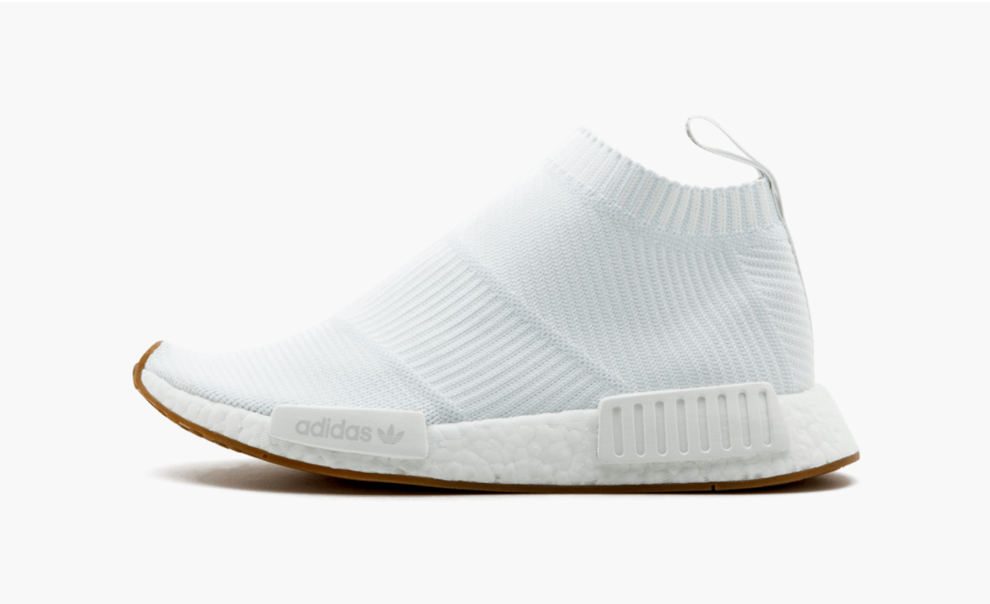 grossiste 48a2d 0d052 Adidas NMD City Sock 1 Primeknit White Gum Sole – Pimp Kicks