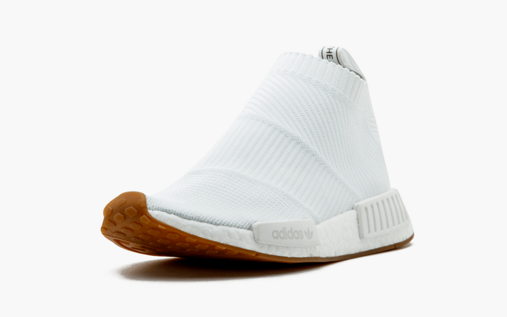wholesale dealer bcba6 9c907 Adidas NMD City Sock 1 Primeknit White Gum Sole – Pimp Kicks