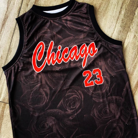 Chicago Black Rose Jersey - Pimp Kicks
