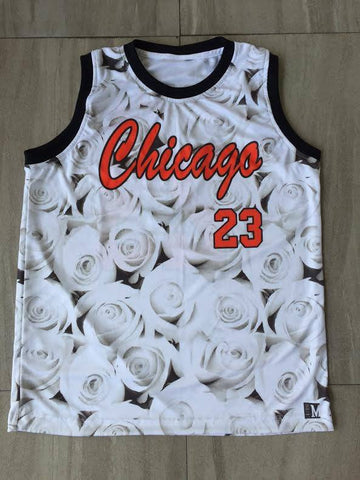 Chicago White Rose Jersey - Pimp Kicks