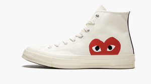 Converse X CDG Chuck Taylor All Star High Play White Women's
