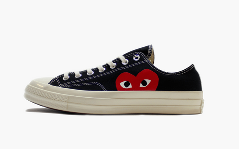 Converse X CDG Chuck Taylor All Star Low Play Black Women's
