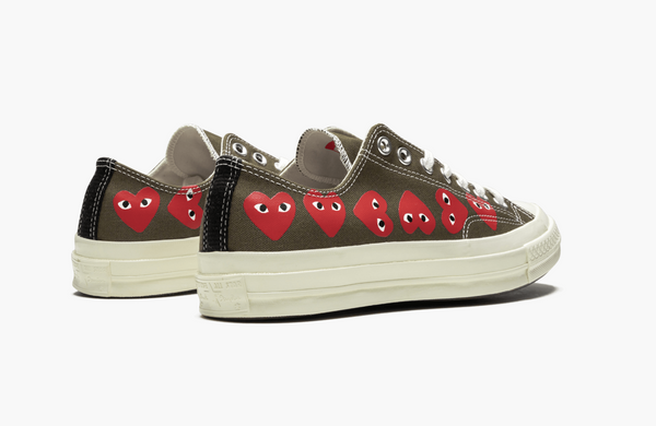 Converse Chuck Taylor All-Star Low 70s X CDG Multi Hearts Olive Men's