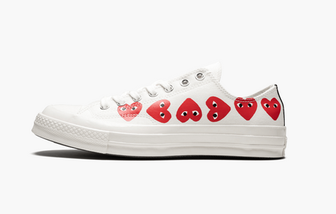 Converse Chuck Taylor All-Star Low 70s X CDG Multi Hearts White Men's