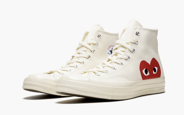 Converse X CDG Chuck Taylor All Star High Play White Men's - Pimp Kicks