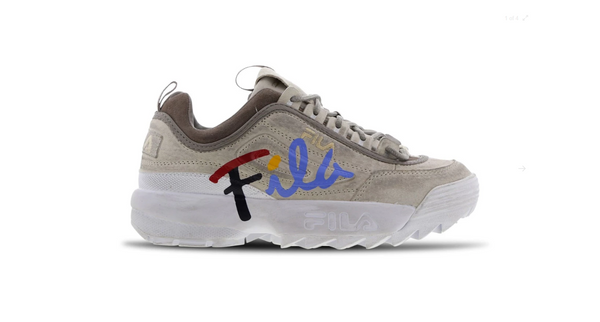 Fila Disruptor 2 Script Distressed Women's - Pimp Kicks