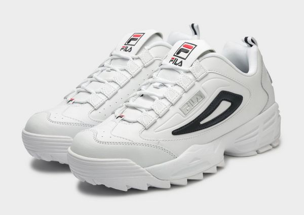 Fila Disruptor 3 White Silver Men's - Pimp Kicks