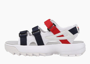 Fila Disruptor Sandals White Navy Red Men's