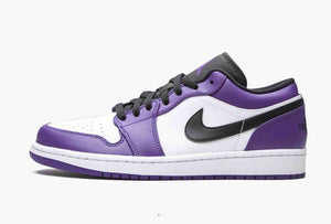 Jordan 1 Low Court Purple White Men's