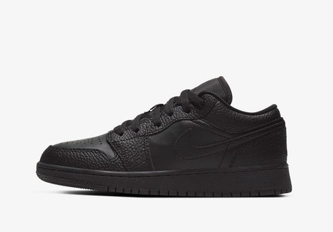 Jordan 1 Low Triple Black (Gradeschool)