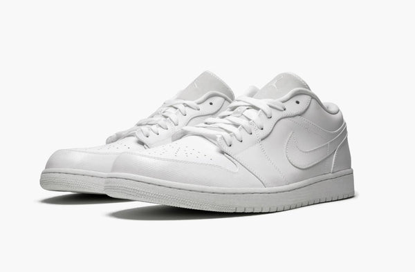Jordan 1 Low Triple White Men's