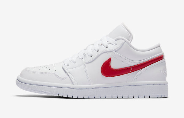 Jordan 1 Low White Varsity Red Women's