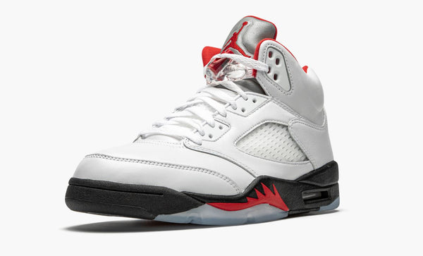 Jordan 5 Retro Fire Red Silver Tongue 2020 Men's