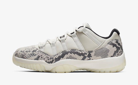 Jordan 11  Low Snakeskin Light Bone (Gradeschool)