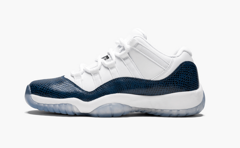 Jordan 11 Low Snakeskin Navy (Gradeschool)